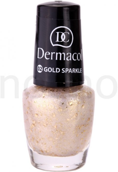 Dermacol Effect lak na nehty 02 Gold Sparkle 5 ml