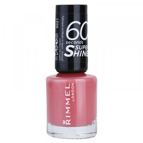 Rimmel 60 Seconds Super Shine lak na nehty odstín 405 Rose Libertine 8 ml