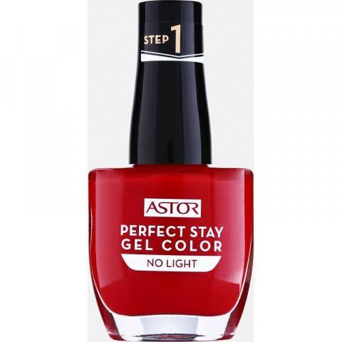 Astor Perfect Stay Gel Color gelový lak na nehty bez užití UV/LED lampy odstín 019 Fashionably Red 12 ml