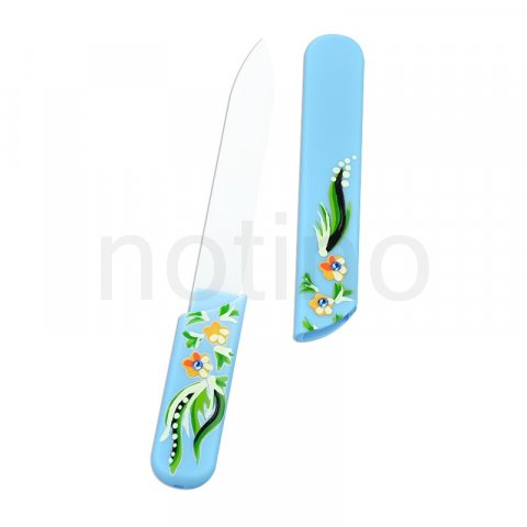 Bohemia Crystal Hard Painted Nail File pilník na nehty Light Blue (Painted Nail File with Swarovski Elements)