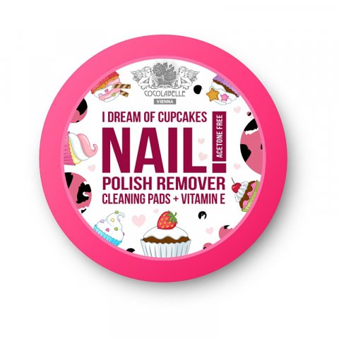 Cocolabelle Fruit Scented & Fabulous Nails odlakovací tampony I Dream of Cupcakes (Acetone and Parabens Free, Vitamin E) 50 Ks