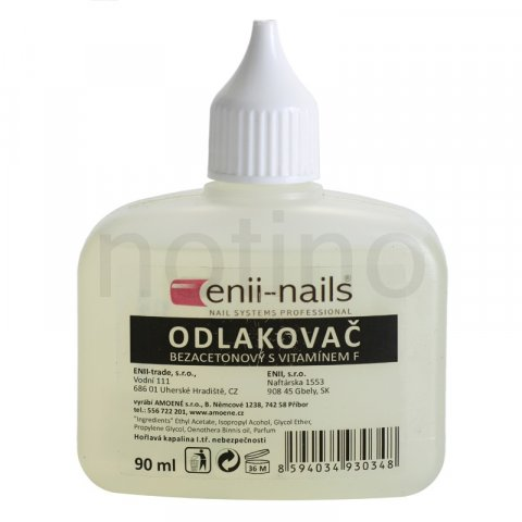 Enii Nails Care odlakovač na nehty bez acetonu 90 ml