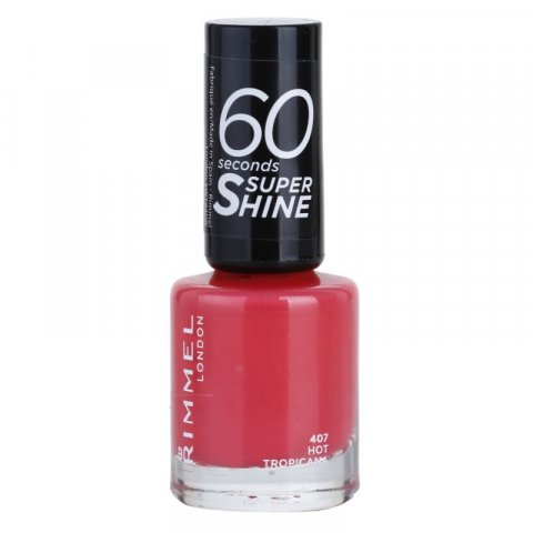 Rimmel 60 Seconds Super Shine lak na nehty odstín 407 Hot Tropicana 8 ml