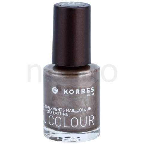Korres Decorative Care Nail Colour lak na nehty odstín 61 Metallic Taupe (Myrrh & Oligoelements) 10 ml