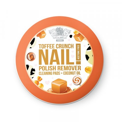 Cocolabelle Fruit Scented & Fabulous Nails odlakovací tampony Toffee Crunch  50 ks